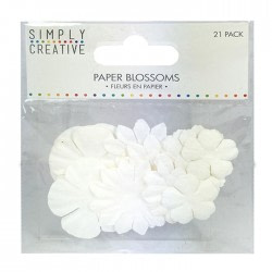 FLORES PAPEL-SIMPLY CREATIVE   – BLANCO