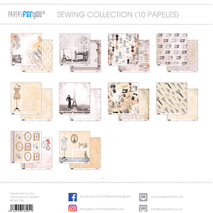 COLECCIÓN COSTURA 12″x 12″ – PAPERS FOR YOU