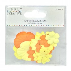 FLORES PAPEL-SIMPLY CREATIVE   – AMARILLO