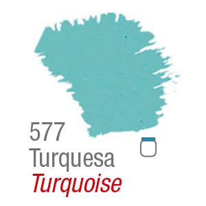 PINTURA ACRÍLICA FOSCA MATE ACRILEX 60ml TURQUESA 577