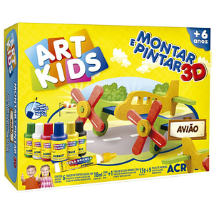 ART KIDS MONTAR Y PINTAR ACRILEX HELICÓPTERO