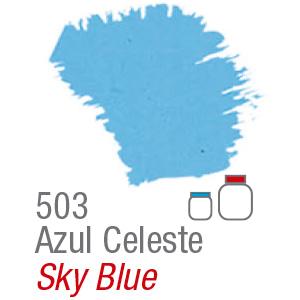 PINTURA ACRÍLICA FOSCA MATE ACRILEX 60ML. AZUL CELESTE 503