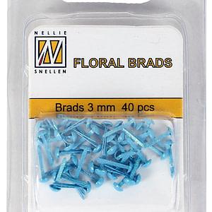 BRADS 3mm GLITTER AZUL (40UND.)