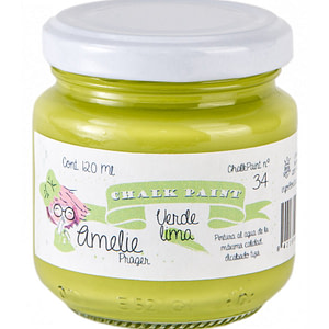PINTURA CHALK PAINT AMELIE 34 VERDE LIMA 120ML