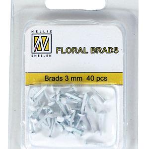 BRADS 3mm GLITTER BLANCO (40UND.)