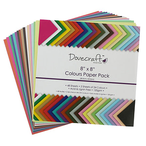 "PACK 48 HOJAS-24 COLORES 8X8"" 120GR."