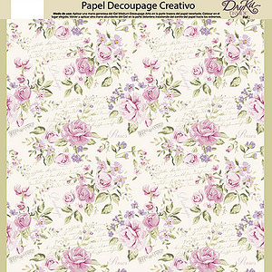PAPEL DECOUPAGE DAYKA TRADE 0813417 FLORES