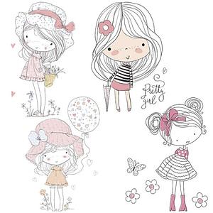 PAPEL SUBLIMACION ARTIS DECOR 30X30 LITTLE GIRLS