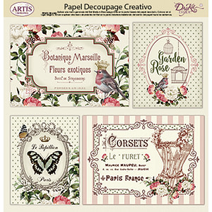 PAPEL DECOUPAGE DAYKA TRADE 0813409 FLORES