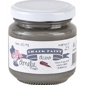 PINTURA CHALK PAINT AMELIE 23 ACERO 120ML