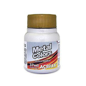 METAL COLORS ACRÍLICA METÁLICA ACRILEX  37ML. PLATA 533
