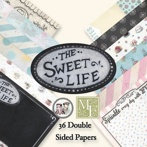 STACK PAPELES SCRAP 15X15 THE SWEET LIFE