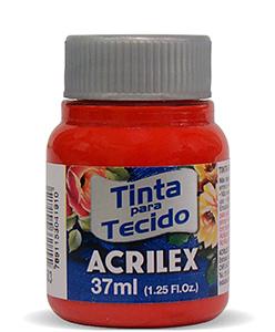 PINTURA TEXTIL ACRILEX 37ml ROJO TOMATE 583