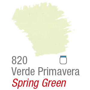 PINTURA ACRÍLICA FOSCA MATE ACRILEX 37ml VERDE PRIMAVERA 820
