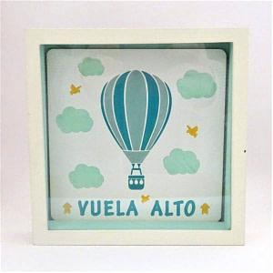 "HUCHA ""VUELA ALTO"" DECORADA VERDE"