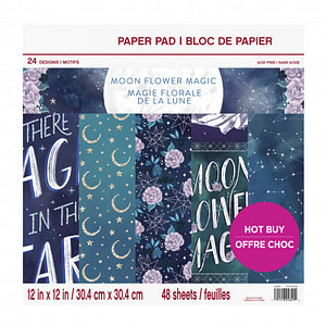 CRAFT SMITH MOONFLOWER MAGIC 12X12 INCH PAPER PAD