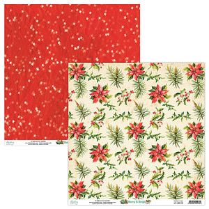 "SET PAPELES 12X12″ ""MERRY & BRIGHT"" MINTAY"