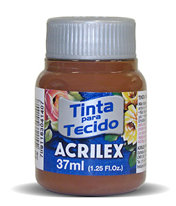 PINTURA TEXTIL ACRILEX 37ml MARRÓN 531