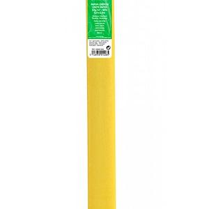 PAPEL CREPE 0,5×2,5m AMARILLO PAJA 53