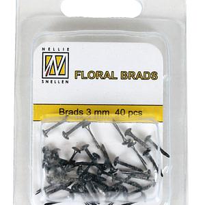 BRADS 3mm GLITTER NEGRO (40UND.)