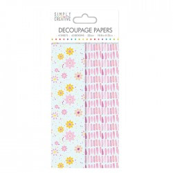 PAPEL DECOUPAGE SIMPLY CREATIVE SCDE029