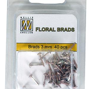 BRADS 3mm GLITTER DORADO (40UND.)